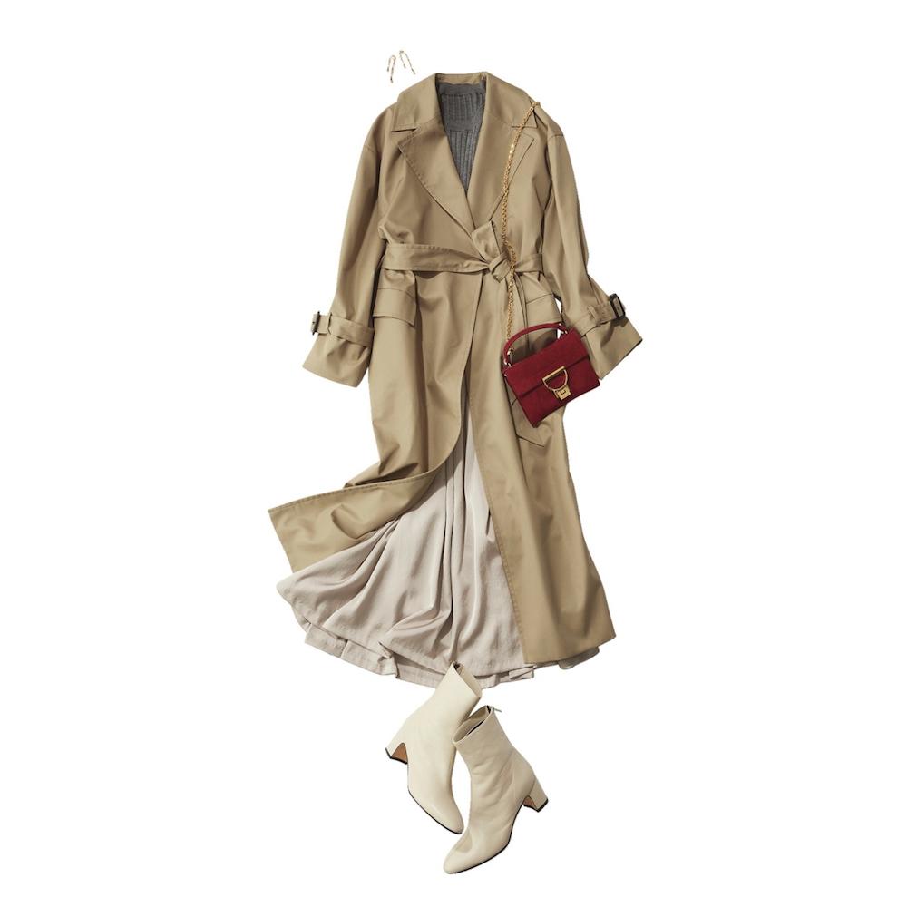 化粧のノリがよくない時でも光沢素材のスカートでリカバーできる!