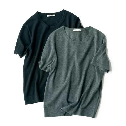 CASSY×eclat カシミヤTシャツ ¥25,000+税