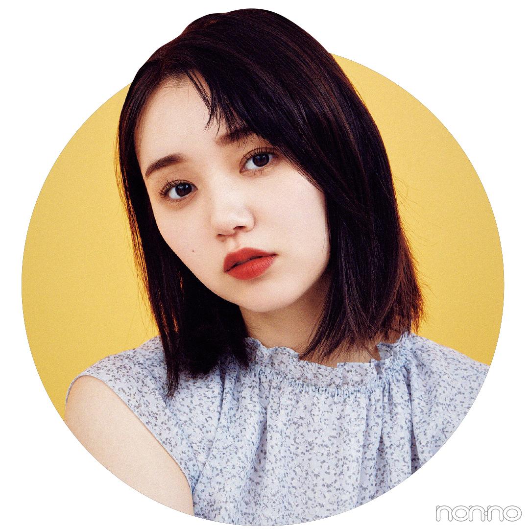 Cカールでこなれるハーフ立ち上げヘアアレンジの江野沢愛美