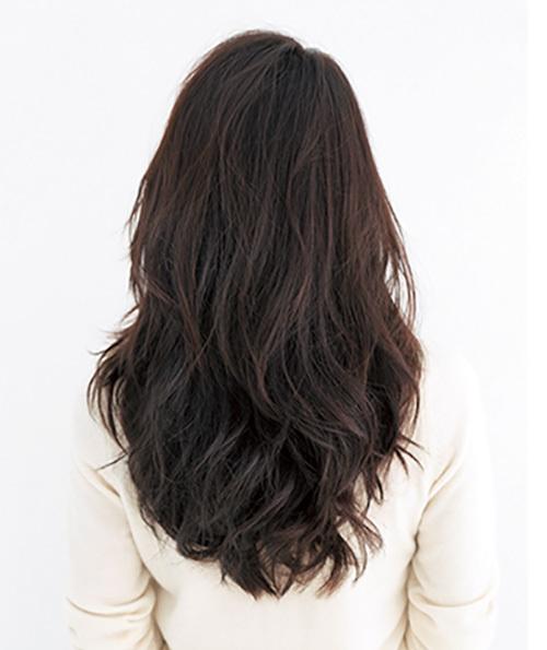 エレガントなのに色っぽい。かき上げ風前髪×ロング【40代のロングヘア】_1_3