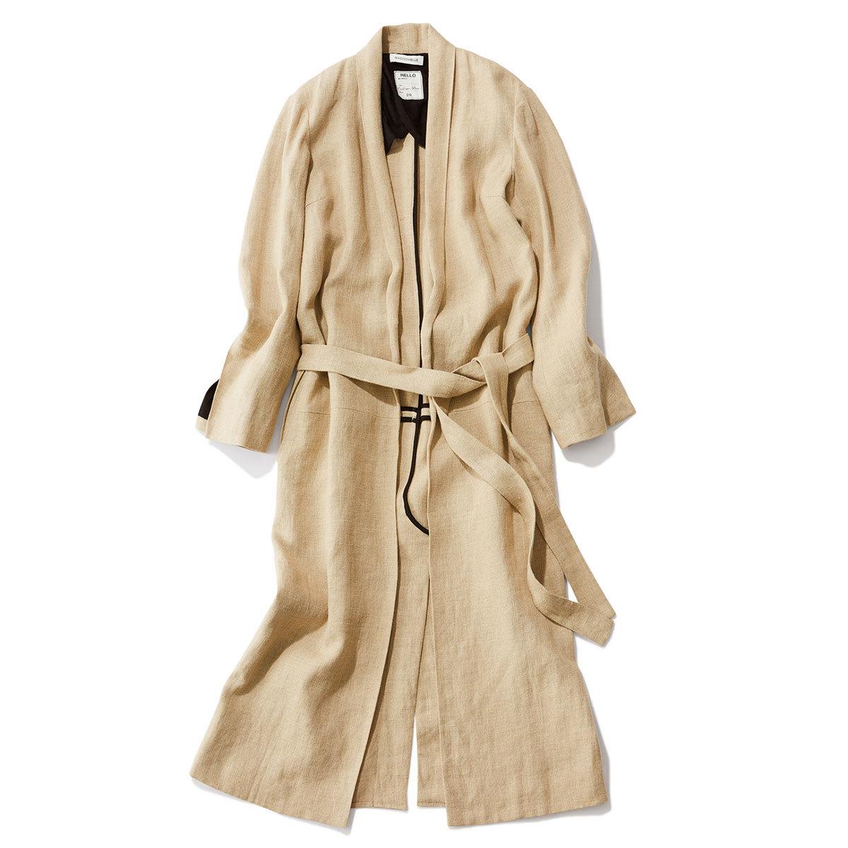 40代ファッション2019年夏のお買い物_MADISONBLUEのリネンガウンコート
