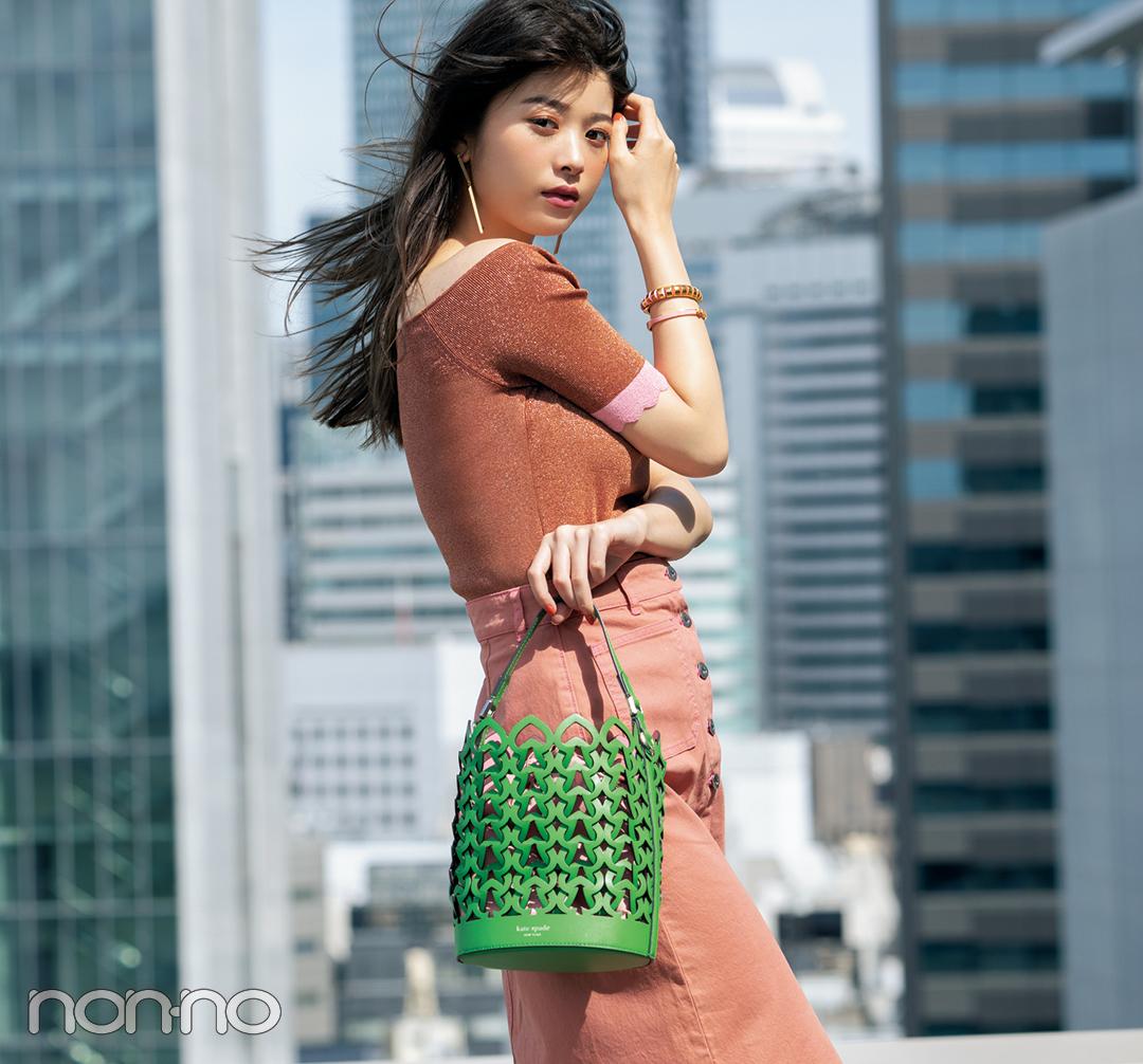 【ケイトスペードのバッグ】この夏はメッシュのバケツ型が新鮮! _1_2