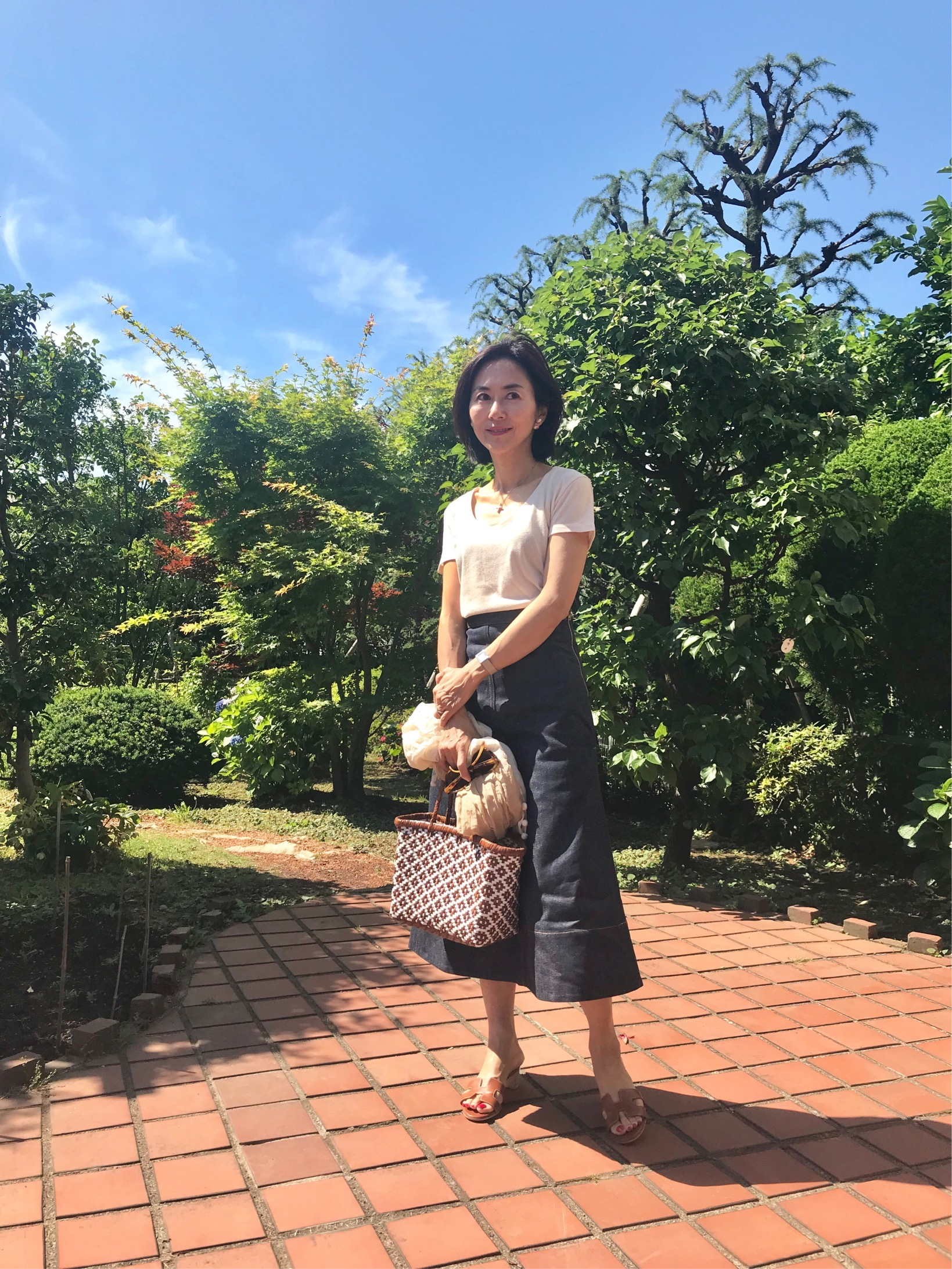 私の黒・白・カーキのTシャツコーデ☆_1_4
