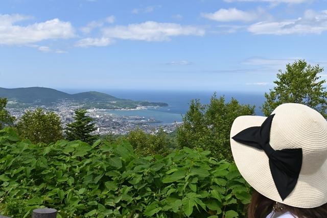 展望スペースから小樽の街を一望