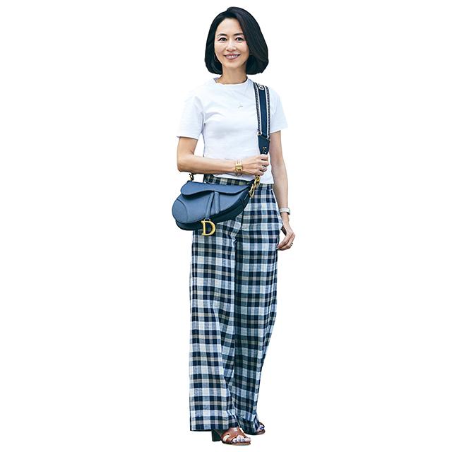 スタイルをカバーして大人カジュアルを実現!「Tシャツ×ワイドパンツ」 五選_1_1-5