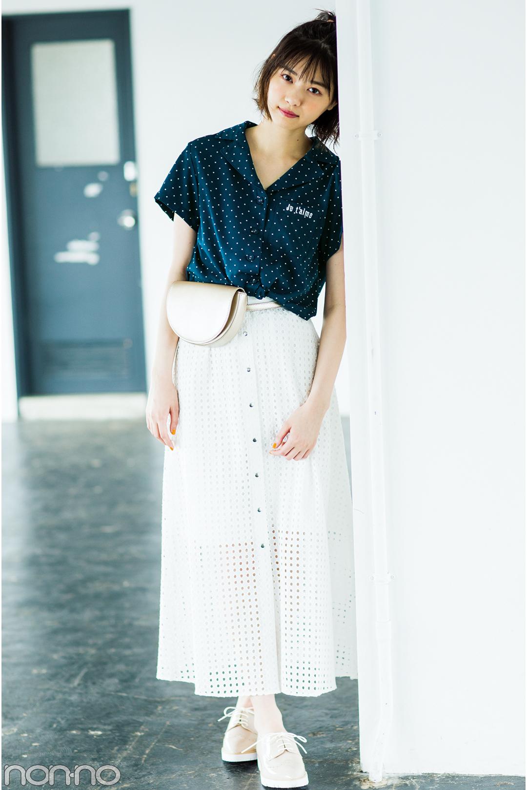 西野七瀬がお手本♡ 夏のロングスカートはカジュアルコーデが可愛い!_1_3-4