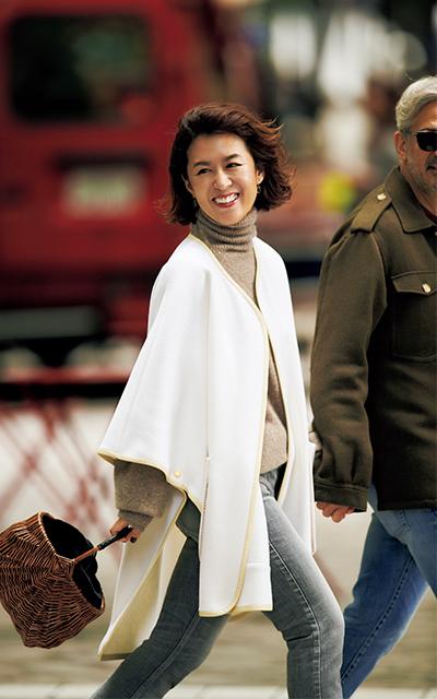 人気スタイリスト 大草直子のショッピング&ランチのときの休日ファッションコーデ デニムをリンクさせるのがポイント