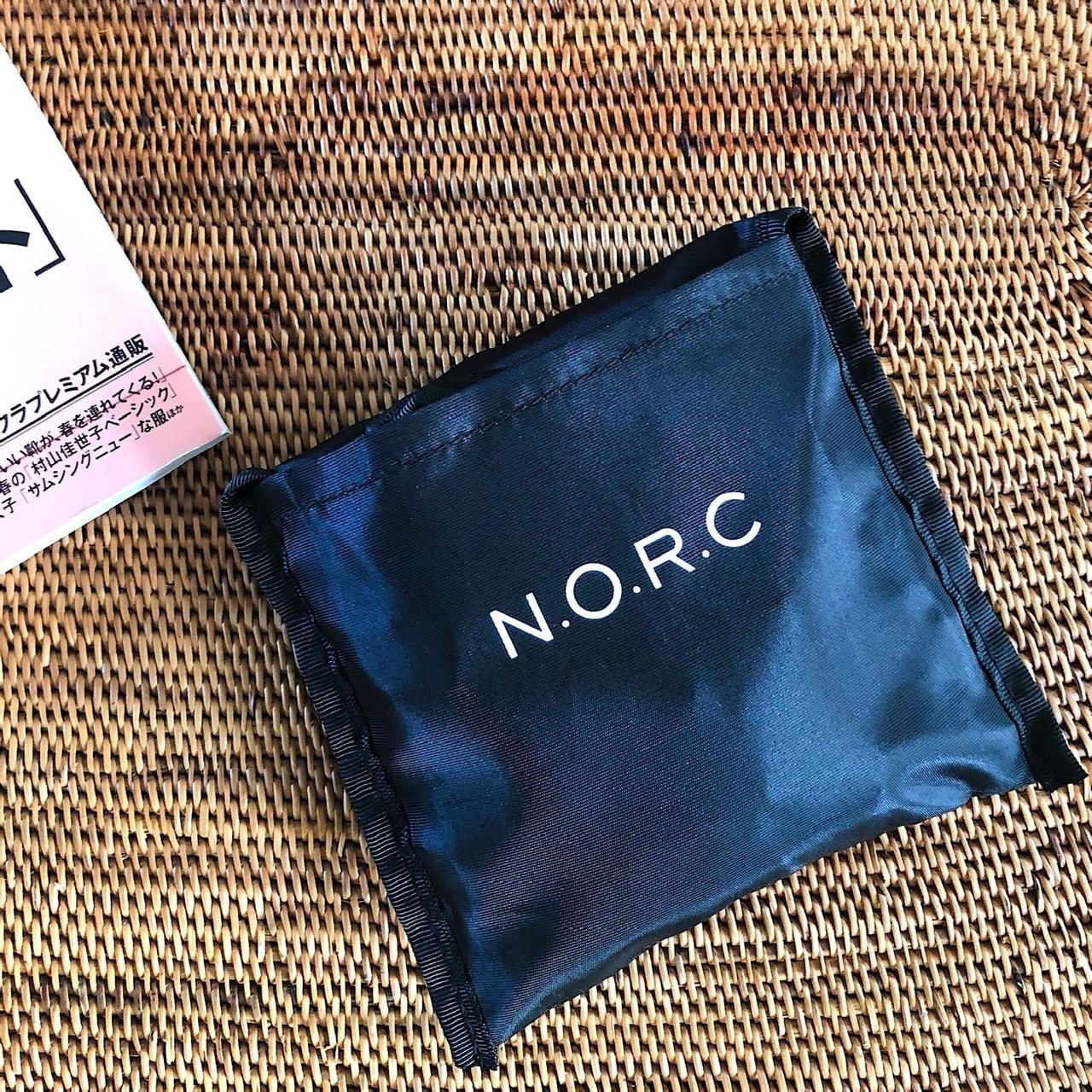 エクラ4月号付録 「N.O.R.C」とコラボした黒ショッパーBAGコーデ