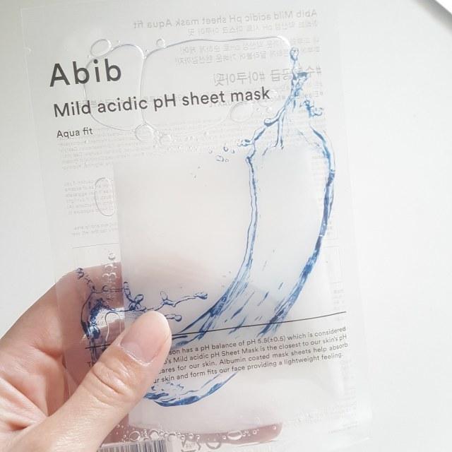 Abib アビブ Mild acidic pH sheet mask Aqua fit レビュー