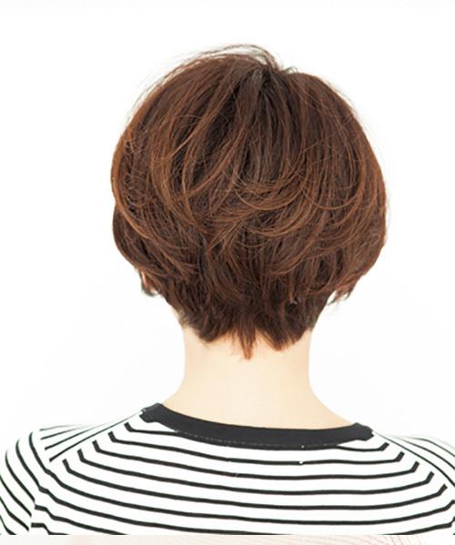 頭の形をよく見せるトップふんわりショートボブ【40代のボブヘア】_1_1-3