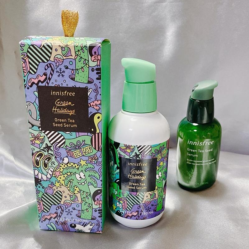 innisfreeの人気美容液グリーンティーシードセラムもビッグサイズな上に限定パッケージ