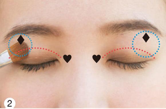 目が左右非対称さんの場合★タイプ別「デカ目」になる方法③ _1_3-2