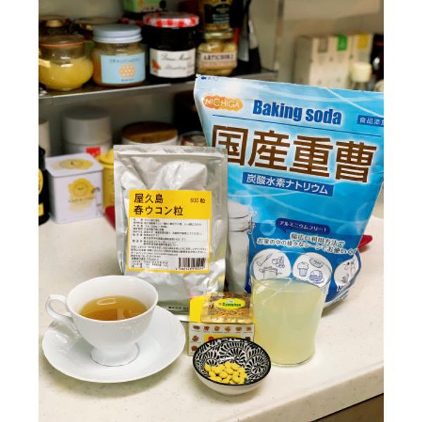 ひとつまみの重曹とスプーン2杯のレモン汁入りお水で毎朝デトックス