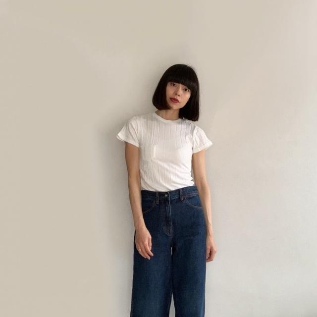 私の定番白Tシャツはこれ!YOUNG & OLSENの名品リブTシャツ_1_3