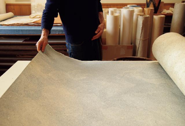 ロギールさんの漉いた和紙