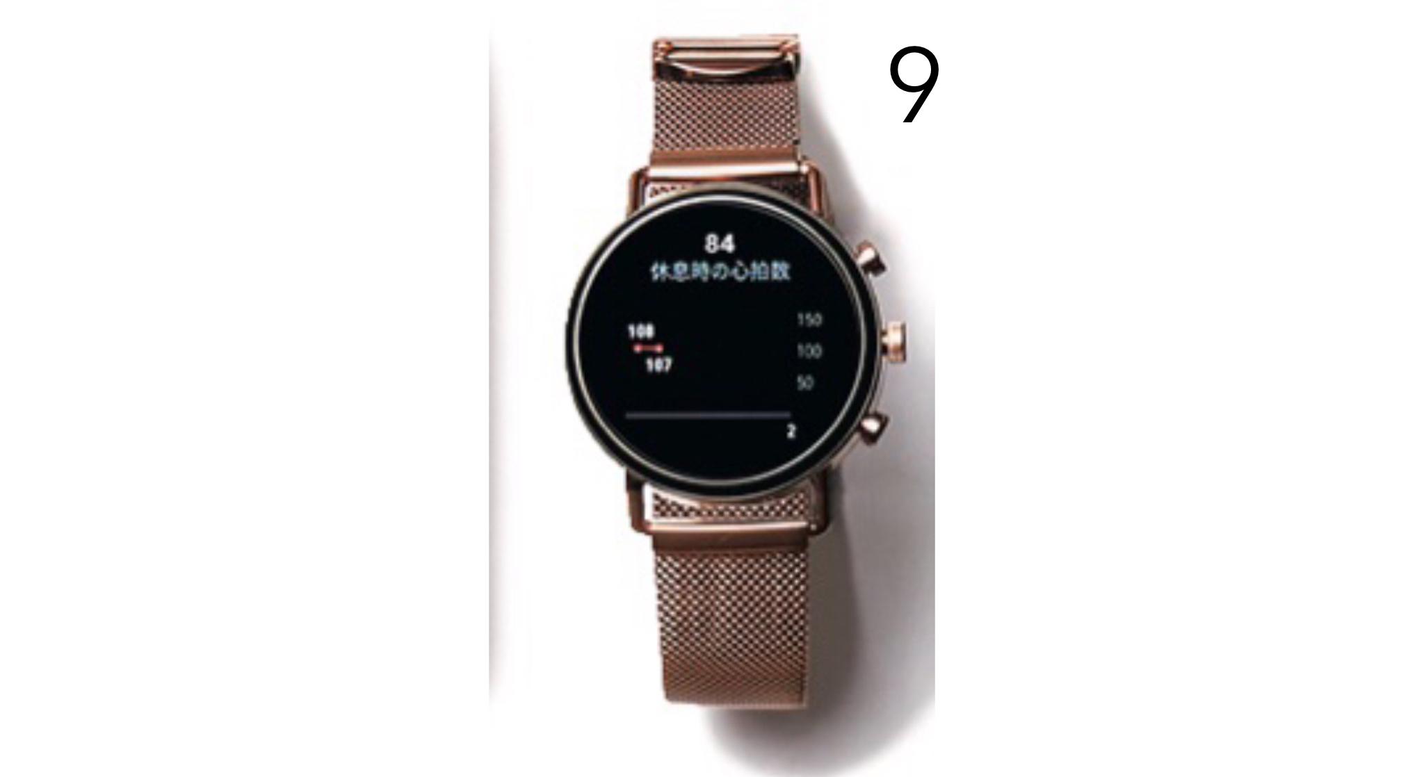 スカーゲンのスマートウォッチ。「デザインが可愛くて、普通の時計感覚でつけられるのでお気に入り」