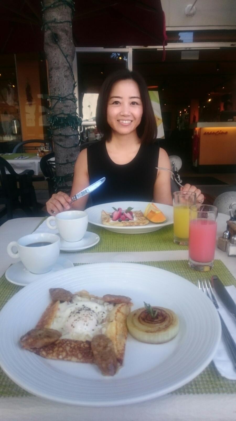 大定番だけどやっぱり好き。朝食はワイキキのアランチーノで。_1_1