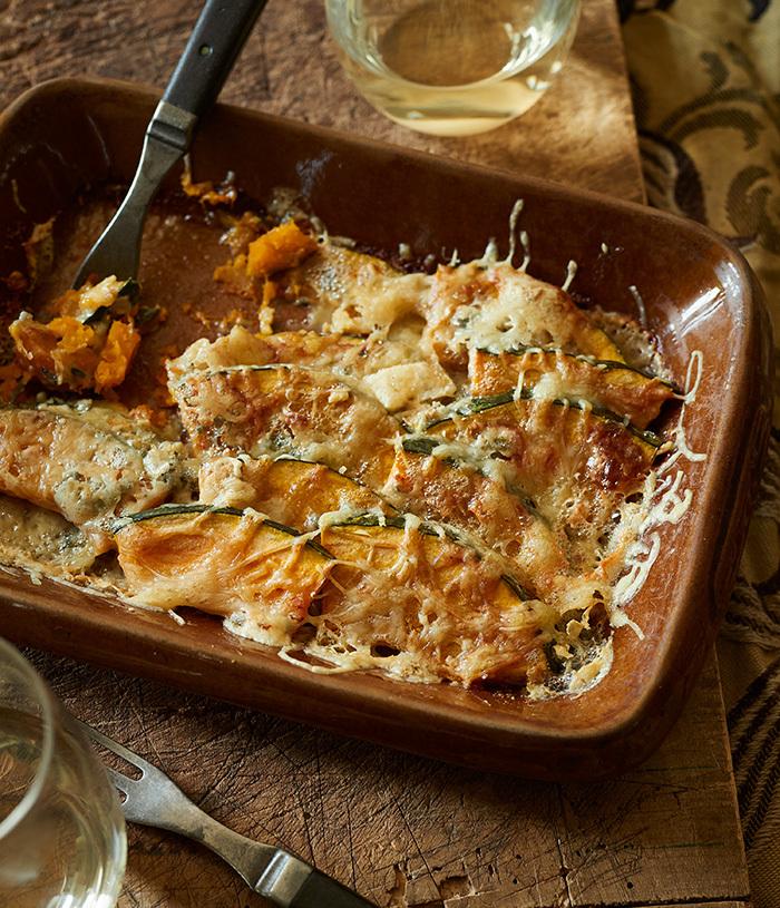 かぼちゃのブルーチーズ焼き
