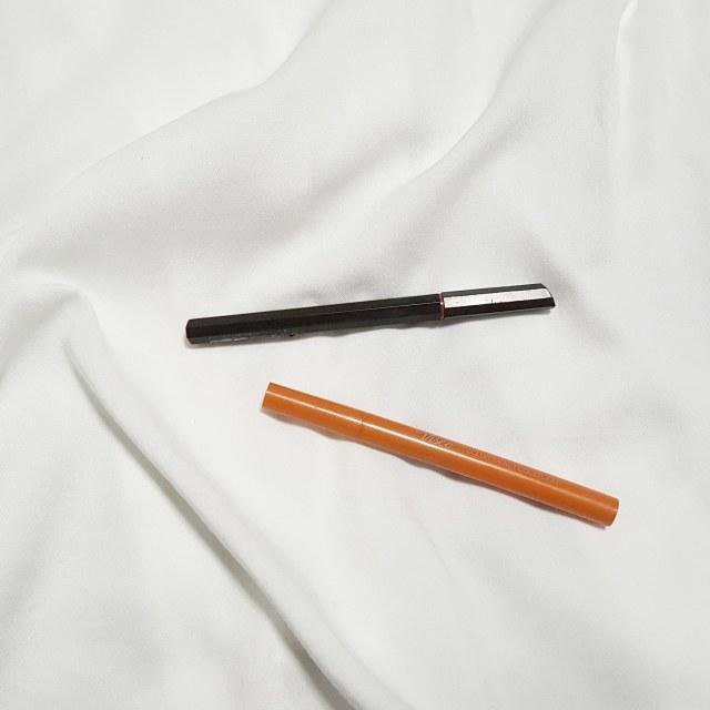④モテライナー ブラウンブラック ⑤vise カラーインパクトリキッドライナー OR240