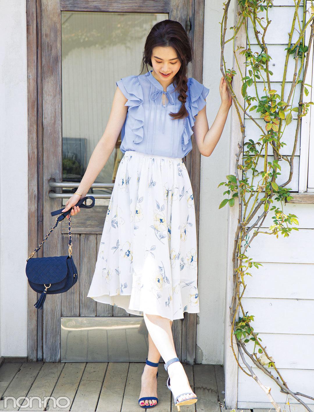 ふんわりスカートに合うヘアアレ「崩し三つ編み」のコツ、教えます!_1_2