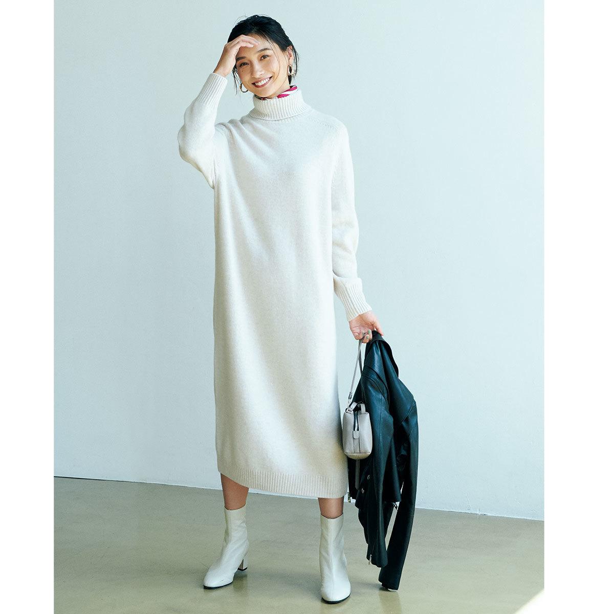 ■ユナイテッドアローズの白ニットワンピース