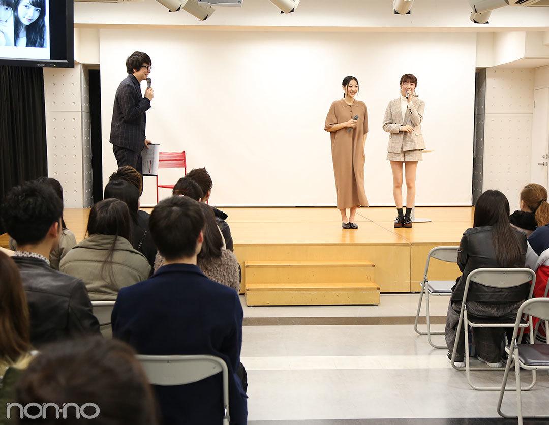 武田玲奈と松川菜々花がベルェベル美容専門学校のオープンキャンパスでトークショーを開催!_1_3-1