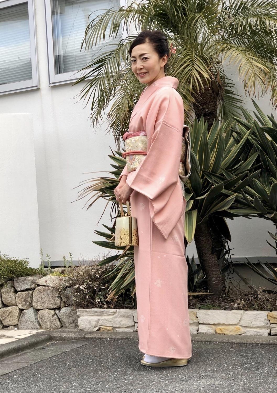 桜色の着物を着て卒業式へ♪_1_1
