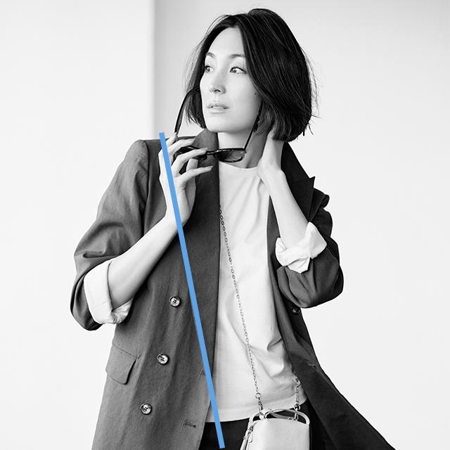 着やせルール マイクロミニバッグを斜めがけで斜め線をつくる