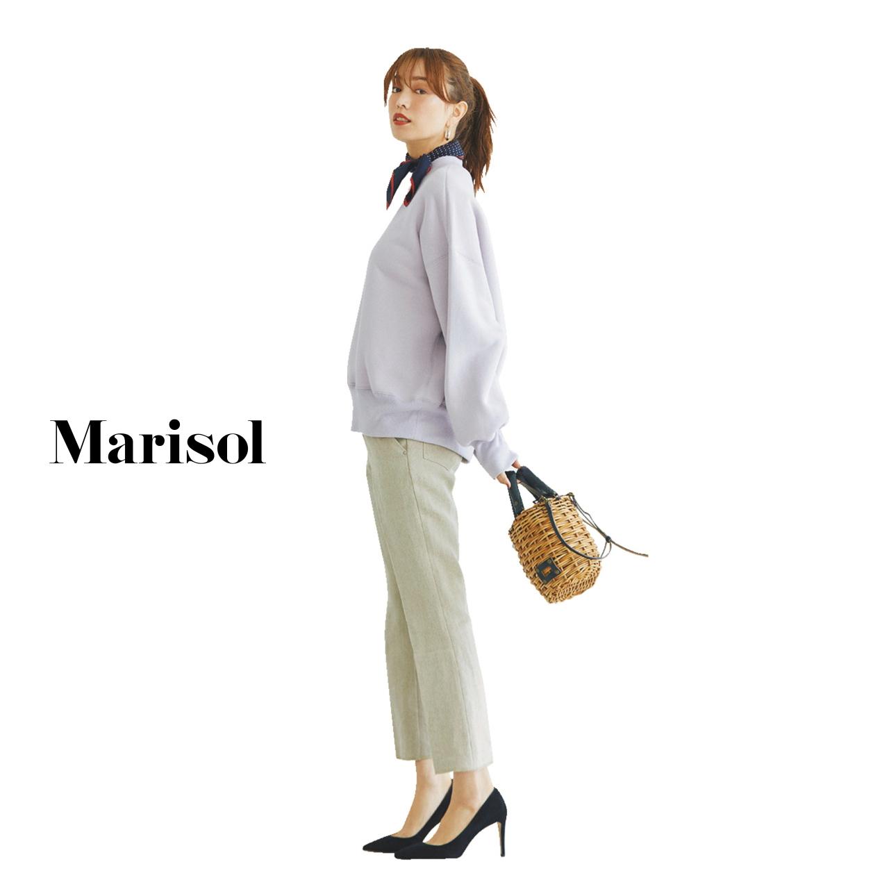40代ファッション スウェット×パンツコーデ