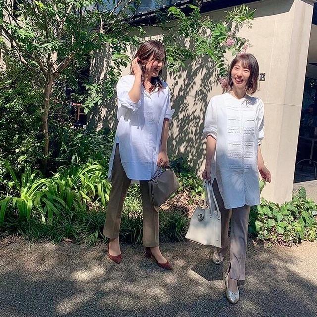 爽やかな秋晴れの日に、白シャツが気持ちいい♩美女とのブランチコーデ。_1_6-2