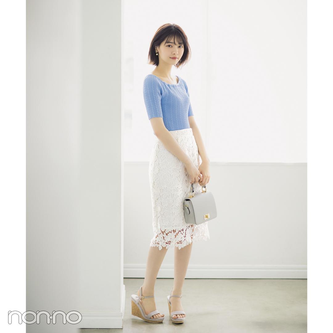 猛暑でも涼し気なのは白レース♡ 西野七瀬のひざ丈スカートコーデ3選!_1_1-3