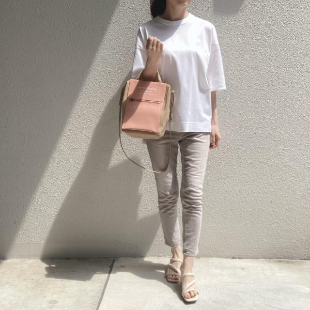 シンプルな白Tシャツの着回しコーデ_1_3