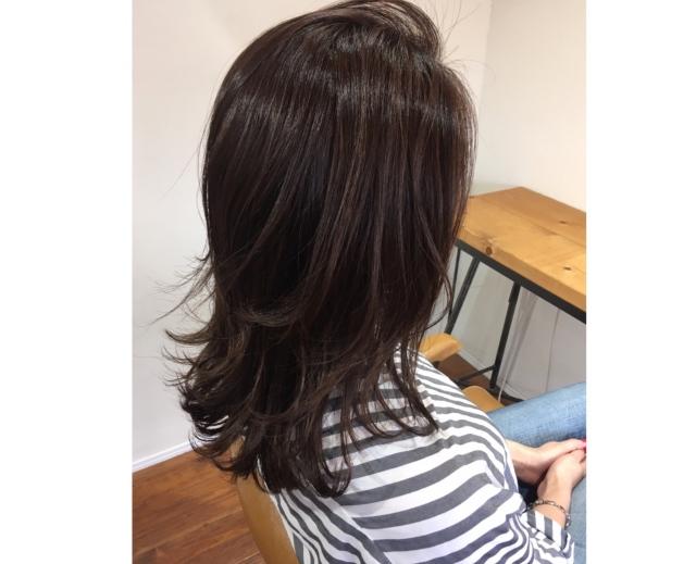 ベージュ艶カラーで春の髪準備。_1_4