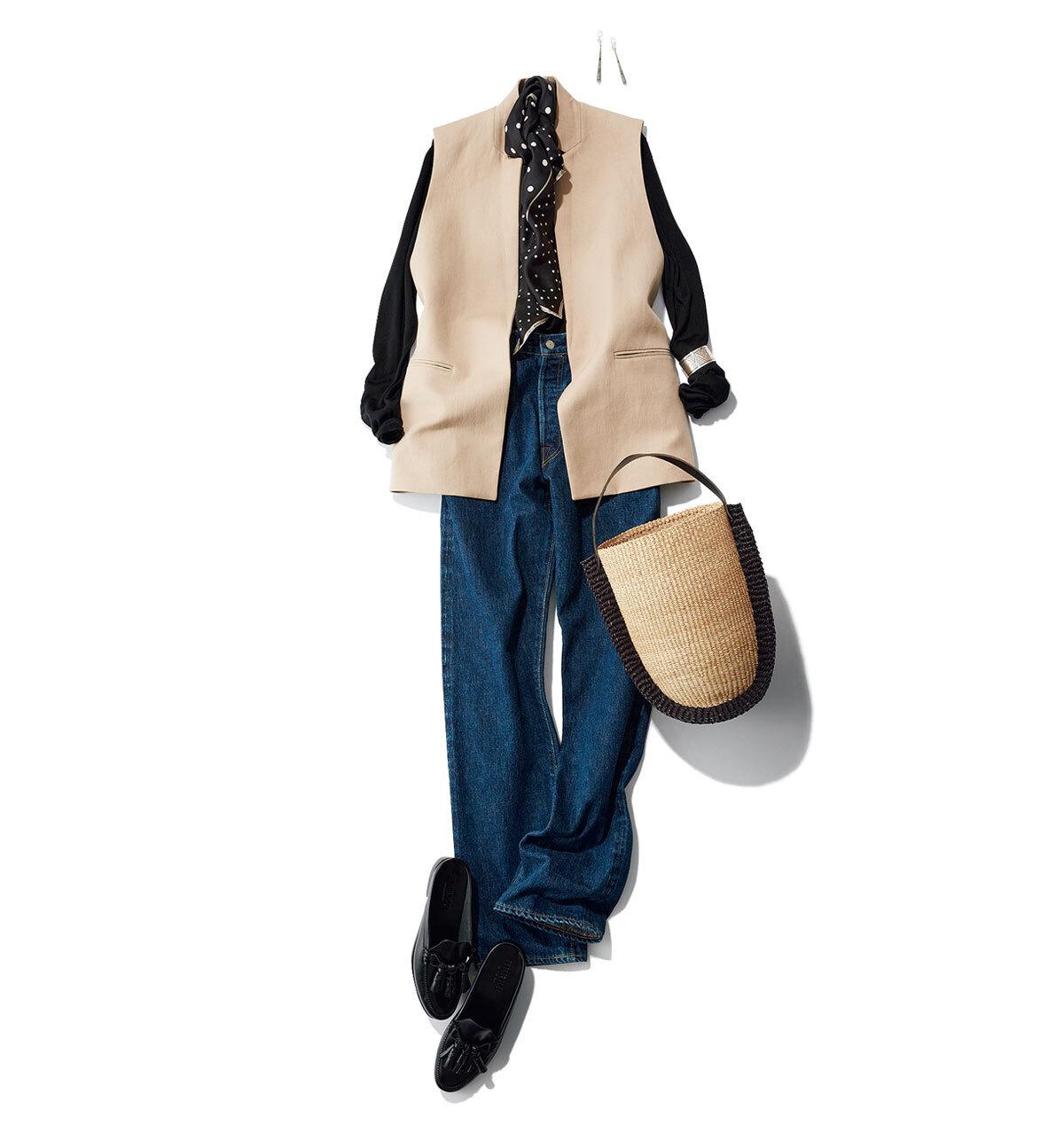 ジレを投入して夏コーデを刷新!シンプルコーデを格上げするジレの取り入れ方 40代ファッション_1_7