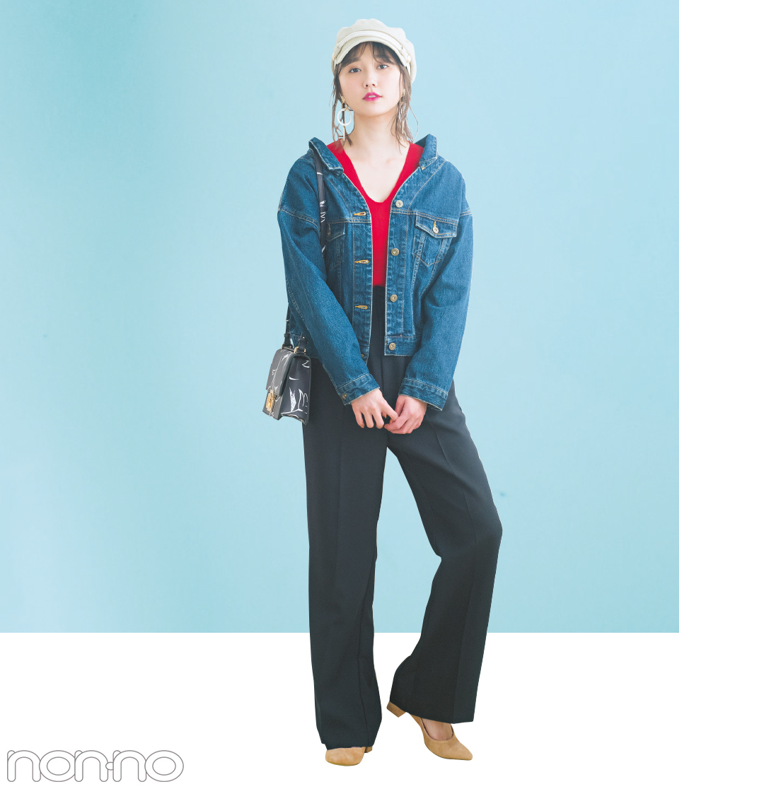 この春、フェミニン派がGジャンを7通りに着回す方法教えます★トレンドの衿抜きタイプを徹底活用!_1_2-2