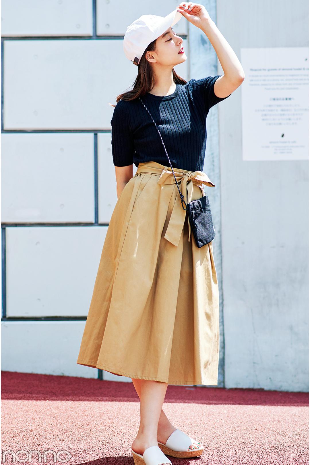 新木優子のチノスカート着回しコーデ♡ カジュアル派におすすめ!_1_3-1