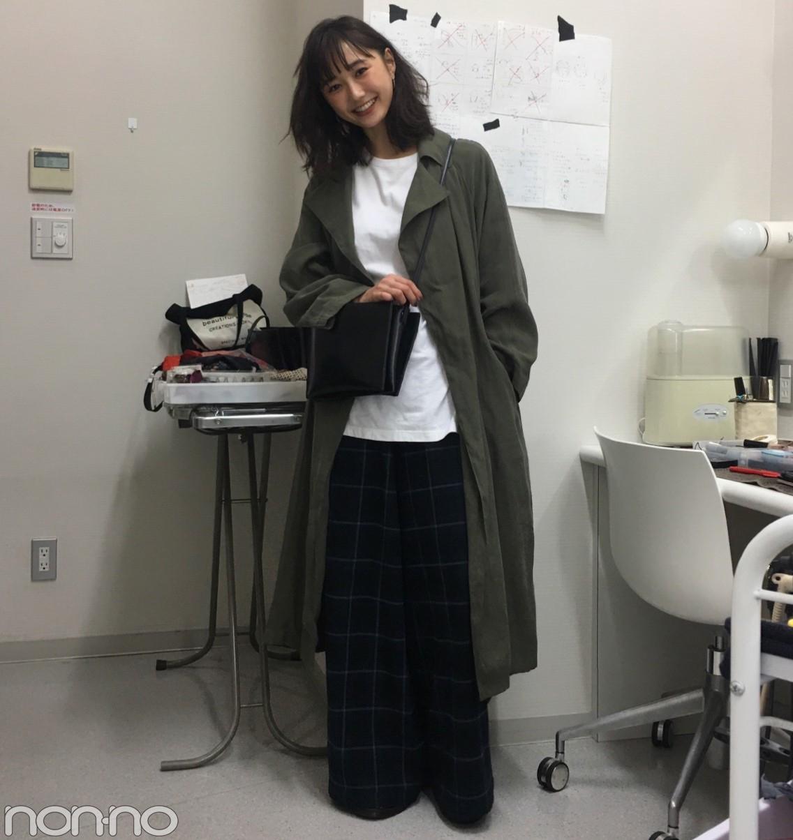 鈴木友菜はチェルシーのコートで秋色ゆるコーデ♡【モデルの私服】_1_1