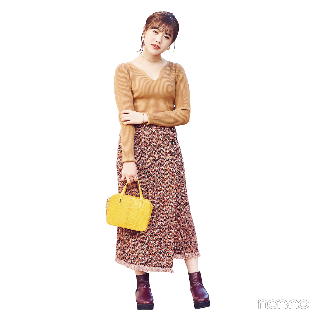 読モのリアル冬コーデ★ レオパ柄&ツイードスカートはこう着る!【カワイイ選抜】_1_3