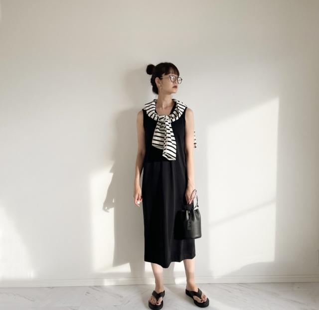 Uniqlo×Mame Kurogouchiコラボワンピース 着回しコーデ【40代 私のクローゼット】_1_2