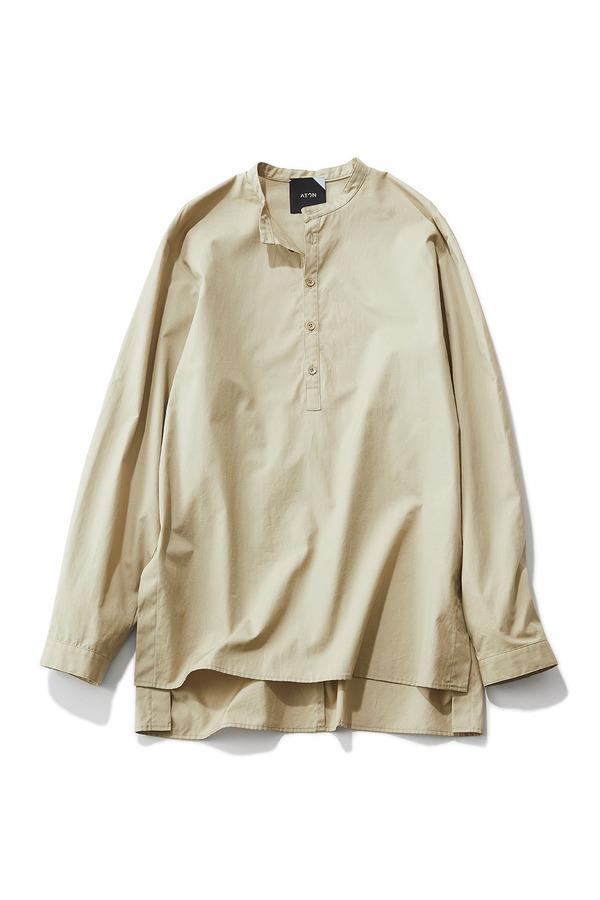 ファッション エイトンのベージュシャツ