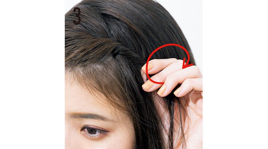 猛暑でもヘア崩さない女子★ 髪を下ろしたい日は簡単ねじりアレで盛る!_1_6