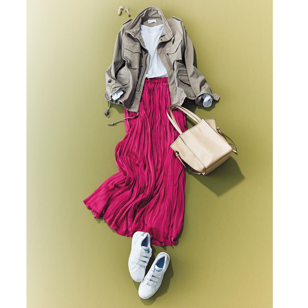 おしゃれプロが買ったキレイ色&モードな白スカート_1_1-3