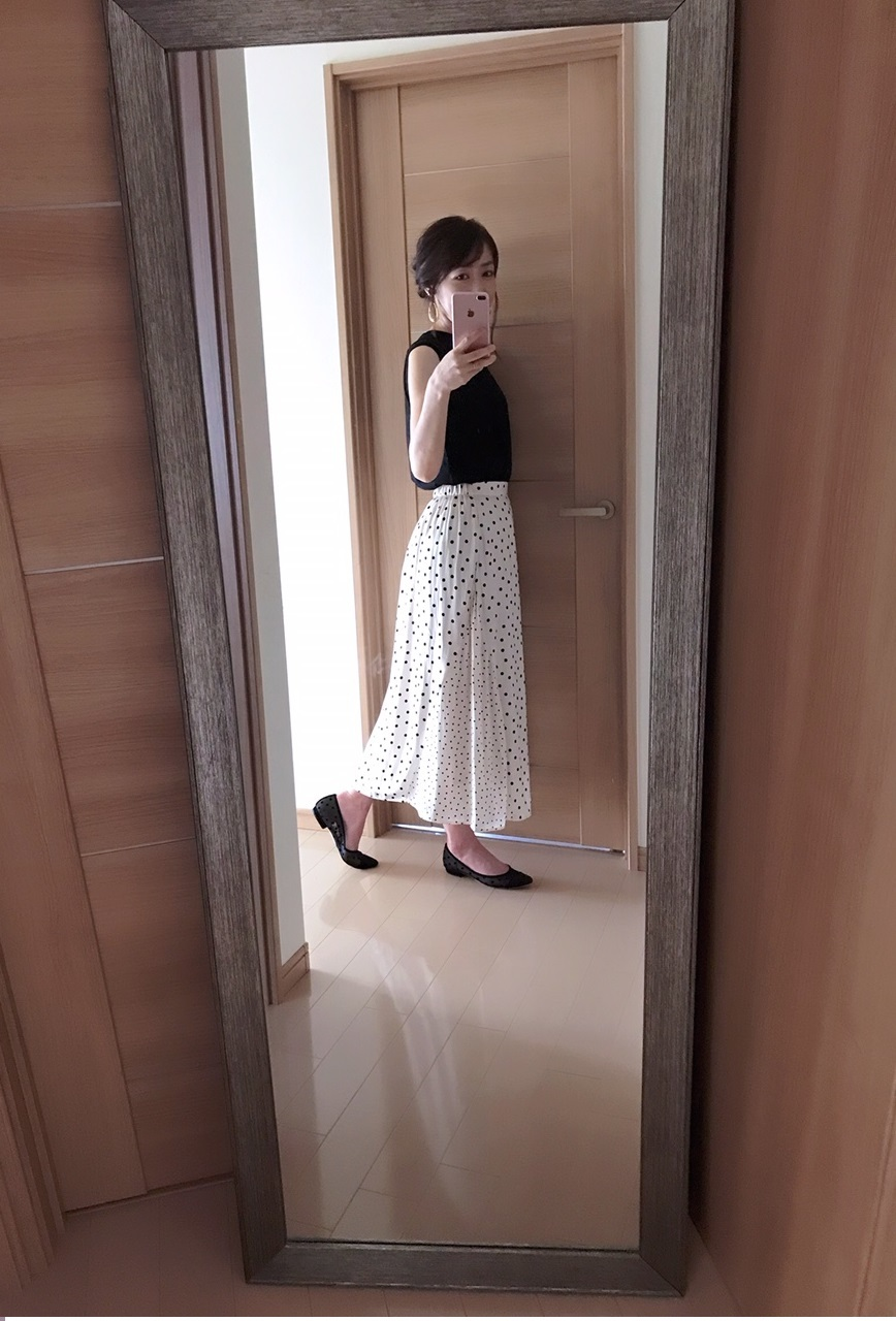 グローバルワークのスカート着画