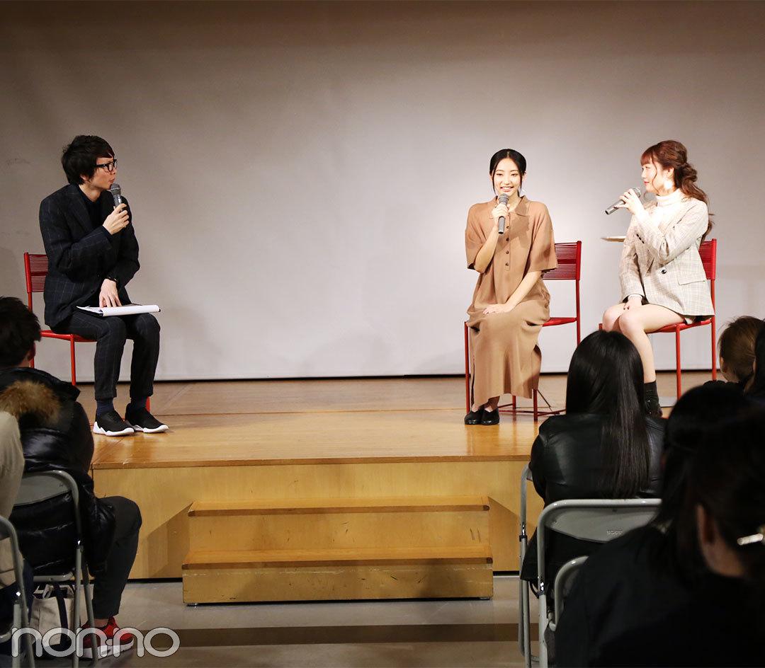 武田玲奈と松川菜々花がベルェベル美容専門学校のオープンキャンパスでトークショーを開催!_1_2