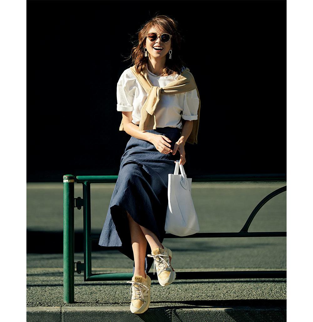 40代が輝く、大人のための上品カジュアルなTシャツコーデカタログ | アラフォーファッション_1_15