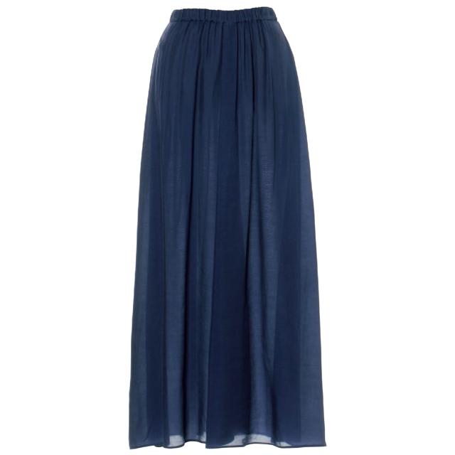 ATON フロントドレープスカート