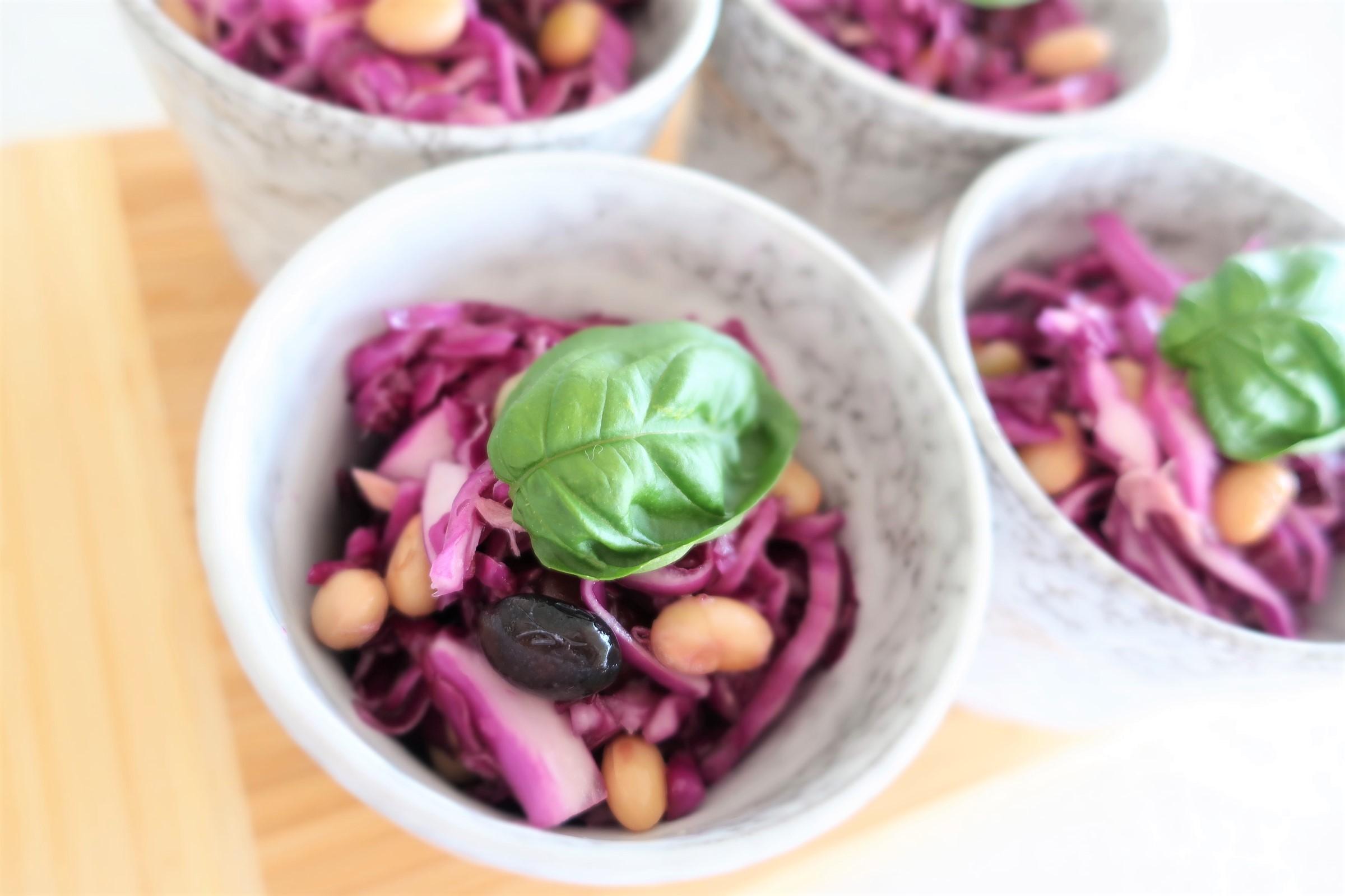 カラフルでとまらない美味しさ!紫キャベツとツナのサラダ_1_1