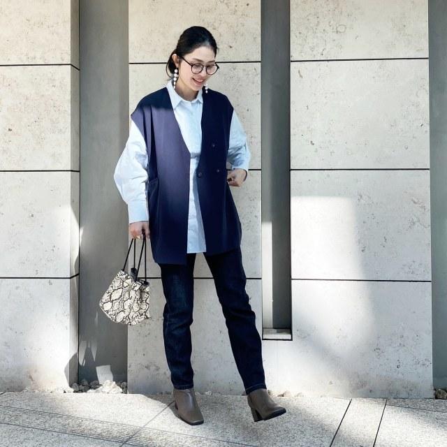 この春のHIT服「シャツ」をアラフォーはこう着る!最旬シャツコーデまとめ|40代ファッション_1_37