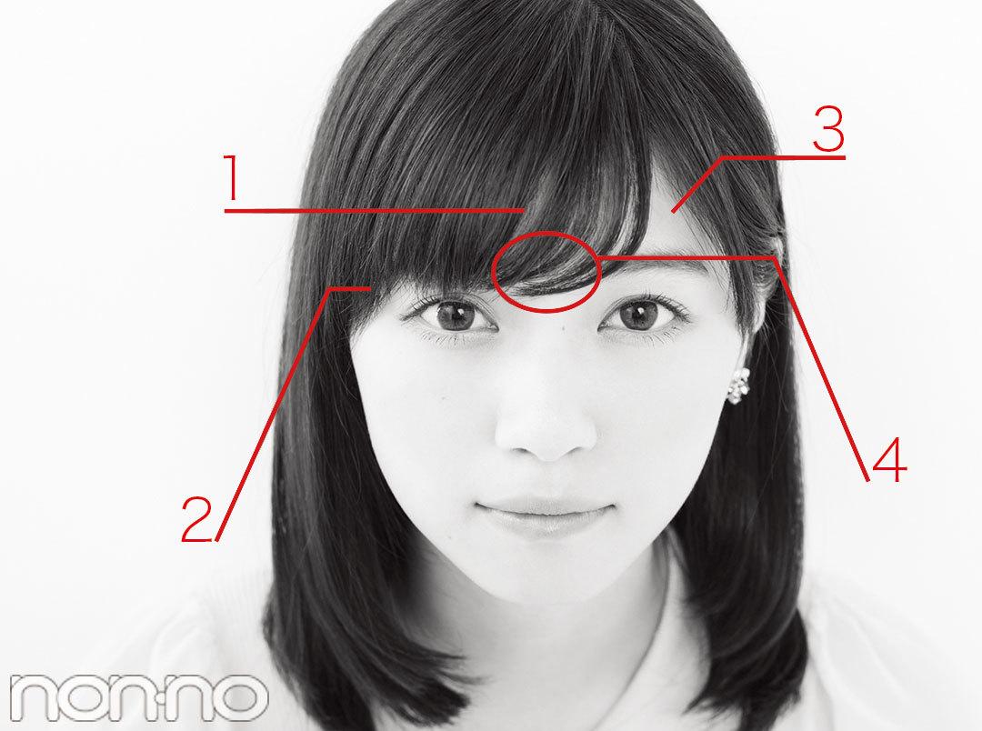 図解でよーくわかる! 小顔も叶う「アイドル前髪」の作り方_1_3
