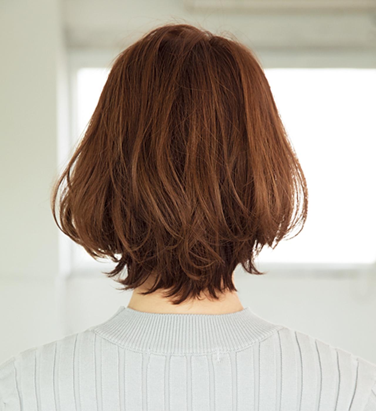 カジュアルもエレガントもアレンジ自在。2way前髪で髪悩みも解決!【40代のボブヘア】_1_3